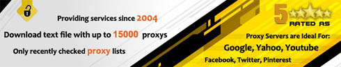 Provide service since 2004. 15000 working proxy per day. Proxy list is updated every minute!